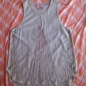 New, Anthropologie Chloe Oliver Beaded Top